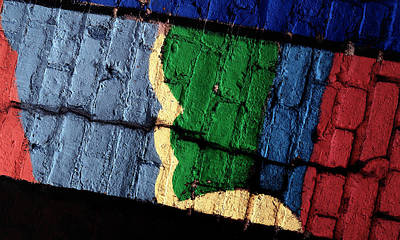 A Crack Runs Through It - Urban Rainbow Art Print by Steven Milner