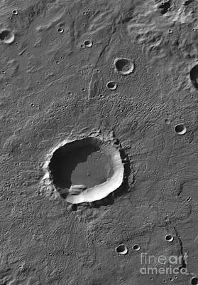 Photograph - A Crater On Mars by Stocktrek Images