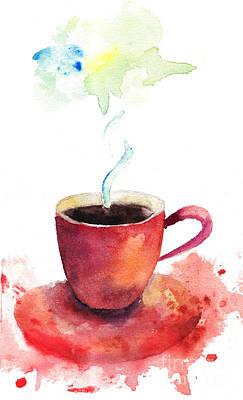 A Cup Of Coffee Print by Regina Jershova