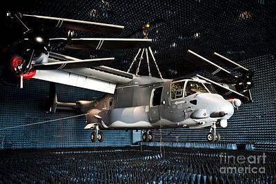 A Cv-22 Osprey Hangs In A Anechoic Art Print by Stocktrek Images