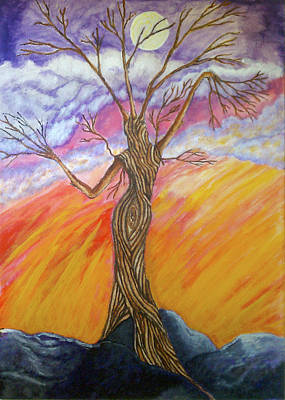 Painting - A Dance With Moon And Sun by Janice T Keller-Kimball