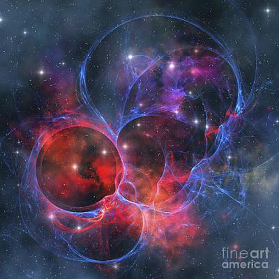 Digital Art - A Dark Nebula Is A Type Of Interstellar by Corey Ford