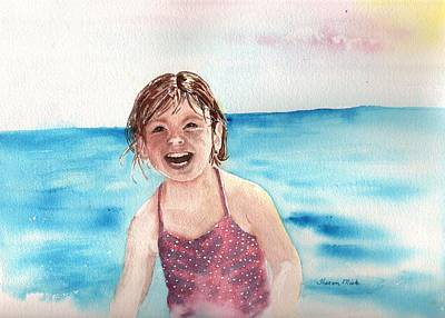Painting - A Day At The Beach Makes Everyone Smile by Sharon Mick