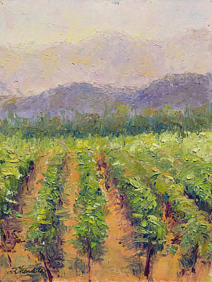 A Day At The Vineyard Art Print