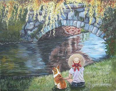 Painting - A Day By The Stone Bridge by Ann Becker