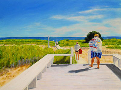 Painting - A Day For The Beach by William Frew