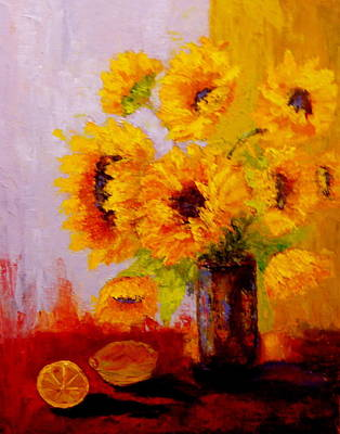 Painting - A Day Of Sushine by Marie Hamby