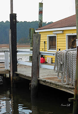 Close Up Photograph - A Day On The Docks by Suzanne Gaff