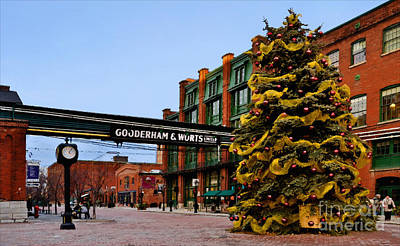 Photograph - A December Afternoon In The Distillery District by Gerda Grice