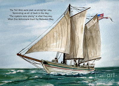 Painting - A Delightful Day On The Delaware Bay   by Nancy Patterson