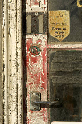 A Door And Peeling Paint Of Historic Art Print by Bill Hatcher