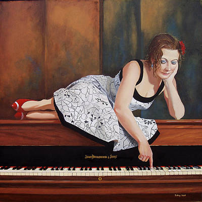 Painting - A Double Sharp Piano Mistress by Jo King