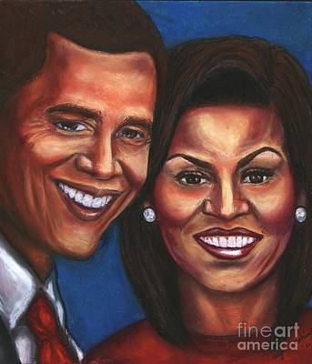 Barack Obama Mixed Media - A Dream Came True by Alga Washington