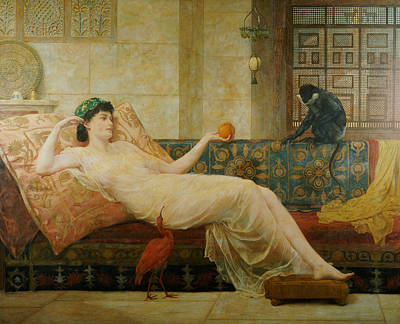 A Dream Of Paradise Art Print by Frederick Goodall