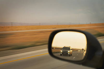 Wing Mirror Photograph - A Drivers View Of The Car by Alan Majchrowicz