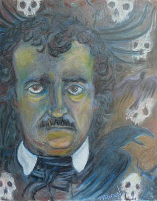 Painting - A E Poe Out Of Shadows by Todd  Peterson