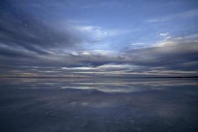 A Fading Sunset Reflects Off The Still Art Print by Jason Edwards