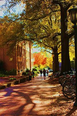 A Fall Day On Campus Art Print