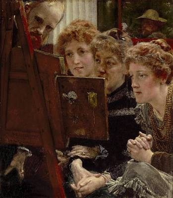A Family Group Art Print by Sir Lawrence Alma-Tadema