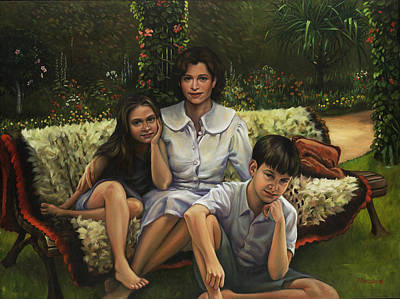 Portraits Royalty-Free and Rights-Managed Images - A Family Portrait by Patrick Anthony Pierson