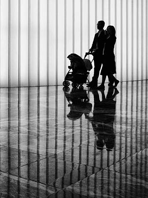 Photograph - A Family Silhouette by Cornelis Verwaal