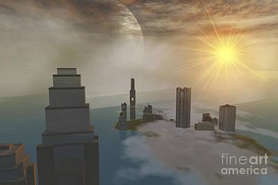A Fantasy Science Fiction World Art Print