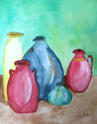 Art Print featuring the painting A Few Good Pitchers by Alethea McKee