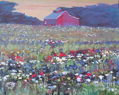 A Field Of Flowers Art Print by Kip Decker