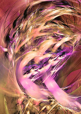 Digital Art - A Fiery Temper by Sipo Liimatainen