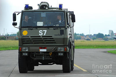 Air Component Photograph - A Fire Engine Based At The Air Force by Luc De Jaeger