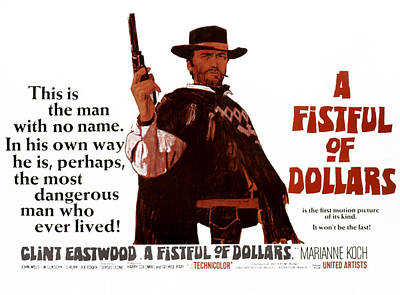 A Fistful Of Dollars Aka Per Un Pugno Art Print by Everett