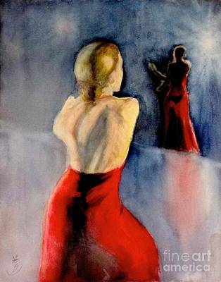 Art Print featuring the painting A Flamenco Dancer  3 by Yoshiko Mishina