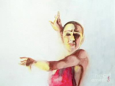Art Print featuring the painting A Flamenco Dancer by Yoshiko Mishina