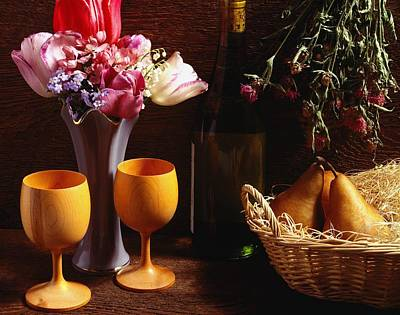 A Floral Display Art Print by David Chapman
