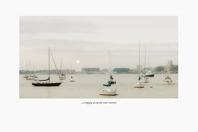 Boat Basin Photograph - A Foggy Day On The River by Tom York Images