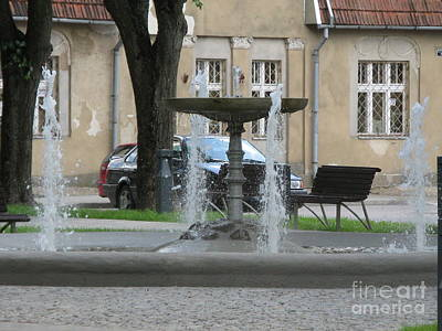 Photograph - A Fountain In Silute Lithuania by Ausra Huntington nee Paulauskaite