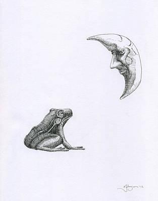 A Frog Regarding The Moon Original by Mark Johnson