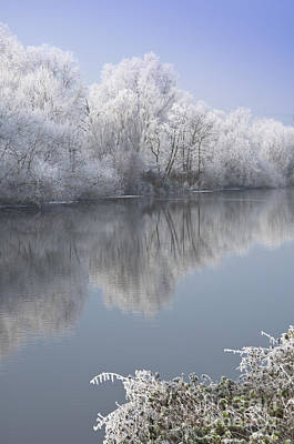 A Frosty River Severn Art Print by Andrew  Michael