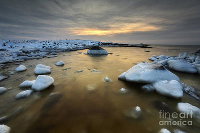A Frozen, Rusty Bay On Andoya Island Art Print by Arild Heitmann