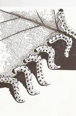 A Furry Feast Art Print by Pat Barker