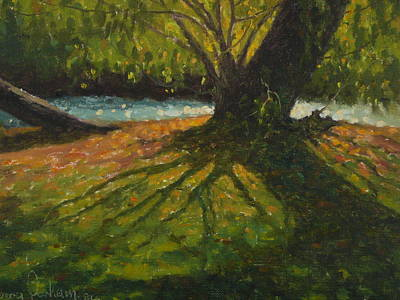 Painting - A Gainst The Light. Willow by Terry Perham