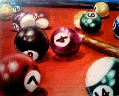 Pastel - A Game Of Pool by Elizabeth Marks