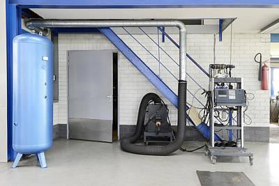 A Garage Or Auto Repair Shop. Huge Air Art Print by Corepics