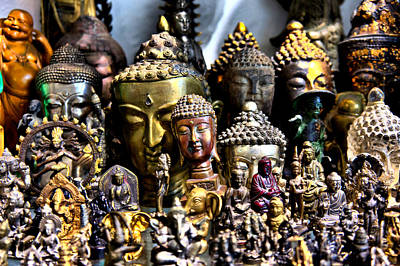 Art Print featuring the photograph A Gathering Of Buddhas by Edward Myers