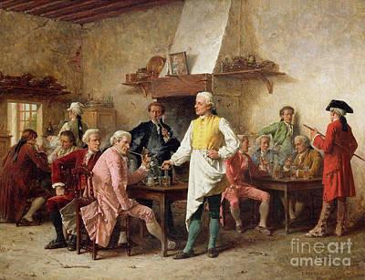 A Gentleman's Debate Print by Benjamin Eugene Fichel