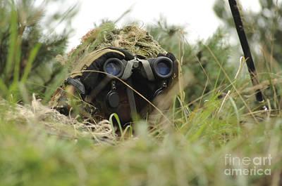 A German Bundeswehr Soldier Camouflages Art Print by Stocktrek Images