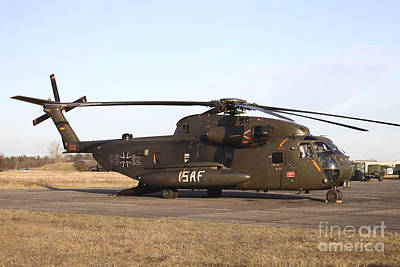 A German Ch-53gs Helicopter At Stendal Art Print by Timm Ziegenthaler