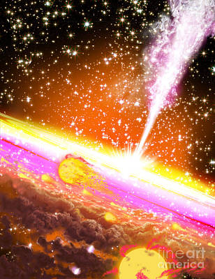 Jet Star Digital Art - A Giant Black Hole At The Center by Ron Miller