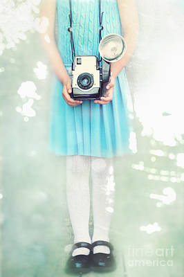 A Girl And Her Camera Print by Stephanie Frey