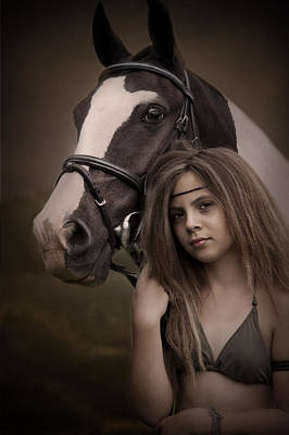 Photograph - A Girl And Her Pony by Ethiriel  Photography